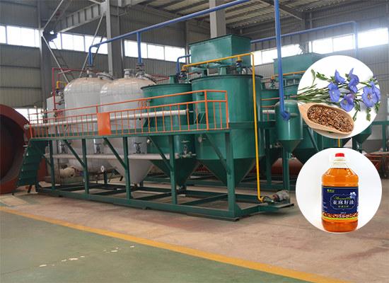 Линия по производству льняного масла
